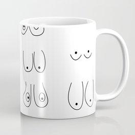 Funny boobs Minimalist  Line art of Tits illustration Line Female Nudity nude  Coffee Mug