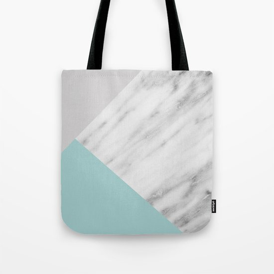 Ice Color Marble Collage Tote Bag