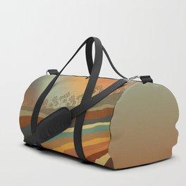 Abstract Retro Landscape 01 Duffle Bag