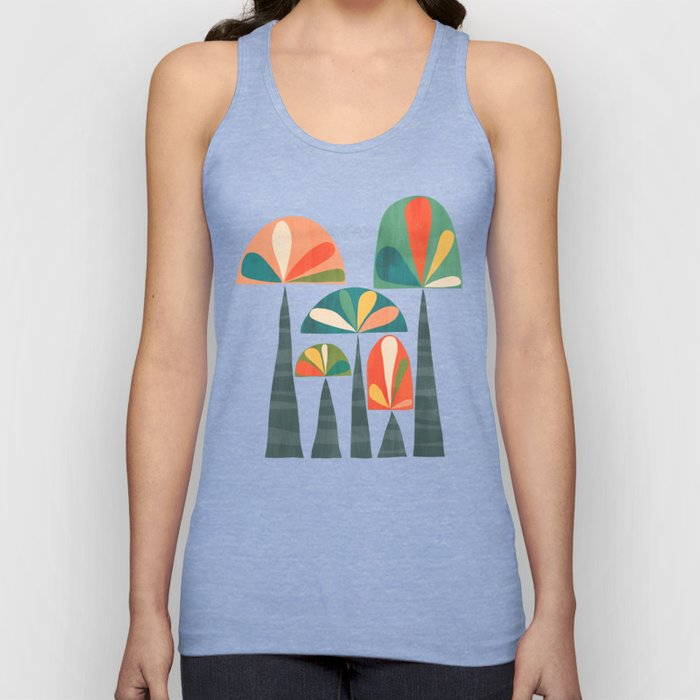 Quirky retro palm trees Unisex Tank Top