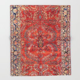 Sarouk Arak West Persian Carpet Throw Blanket