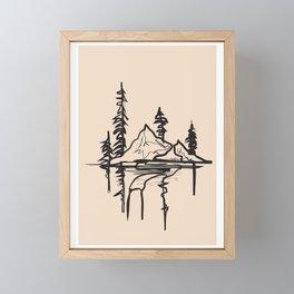 Abstract Landscpe Framed Mini Art Print