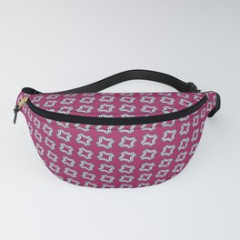 CHICLET bright wine red with small white repeating pattern Fanny Pack