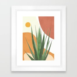 Abstract Agave Plant Framed Art Print