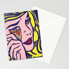 Crying Pizza Girl Stationery Cards
