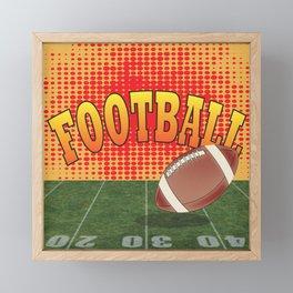 Football Framed Mini Art Print