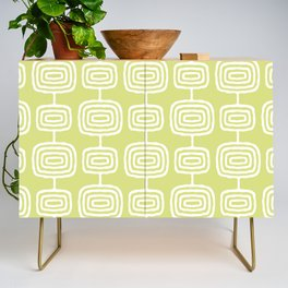 Mid Century Modern Atomic Rings Pattern 731 Chartreuse Credenza