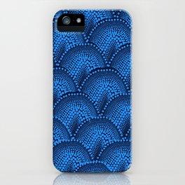 Many Blue Dots (Black Background) iPhone Case