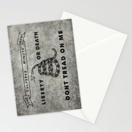 Culpeper Minutemen flag, grungy distressed Stationery Cards