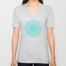 Moroccan Mandala – Turquoise Palette Unisex V-Neck