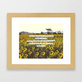 Jeremiah Sunflowers Framed Art Print