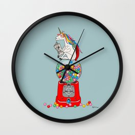 Unicorn Gumball Poop Wall Clock