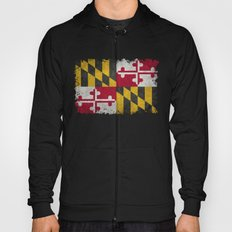 State flag of Flag of Maryland - Vintage retro style Hoody