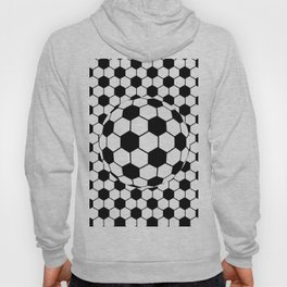Black and White 3D Ball pattern deign Hoody