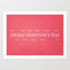Happy Valentine's Day Art Print