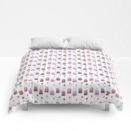 Pink Tea Bags Comforters