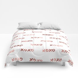 XOXO Fashion Love Rose Gold Pattern 2 Comforters