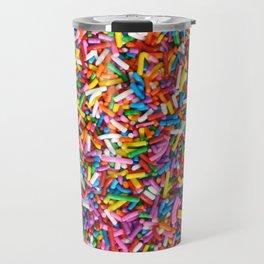 Rainbow Sprinkles Sweet Candy Colorful Travel Mug