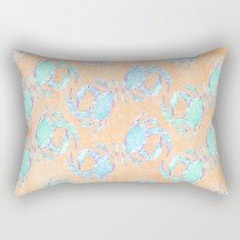 Crab orange blue nautical Rectangular Pillow