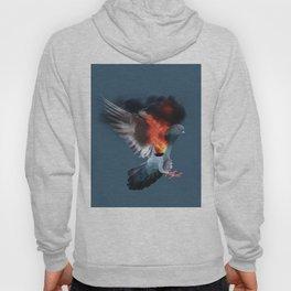 Birds on fire Hoody