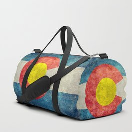 Colorado State flag - Vintage retro style Duffle Bag