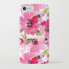 Watercolor Flowers iPhone 7 Slim Case