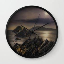 Facing The Ocean Wall Clock
