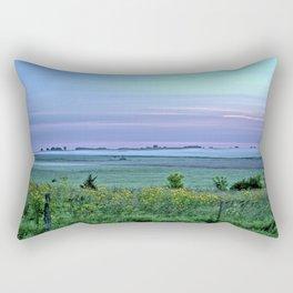 Fog On The Horizon Rectangular Pillow