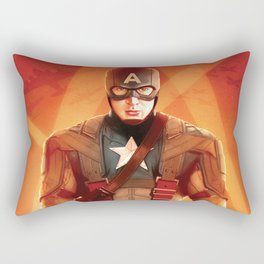 Captain The First  Avenger America by Big Foot Studios Rectangular Pillow