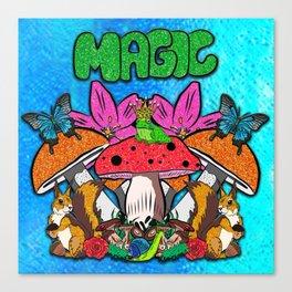 Magical Garden Creatures Canvas Print