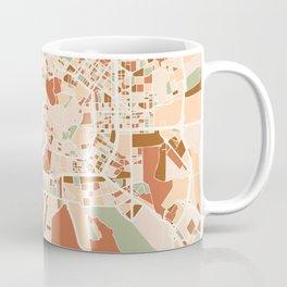 MILAN ITALY CITY MAP EARTH TONES Coffee Mug