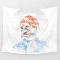 bill Wall Tapestries featuring Bill Murray by I AM DIMITRI