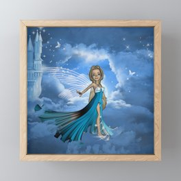 Cute little fairy Framed Mini Art Print