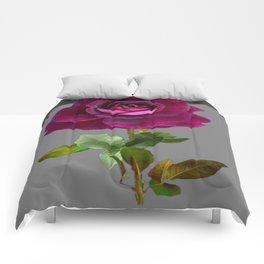 Decorative Purple Velvet  Rose Charcoal Grey Designs Comforters