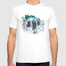 Old Elsie and the Storm White Mens Fitted Tee MEDIUM