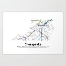 Highways of the USA – Chesapeake Art Print