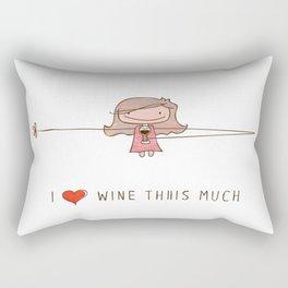 I love wine girl Rectangular Pillow