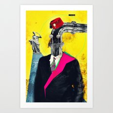 Hey Mom, Look at My New Pipe! Art Print