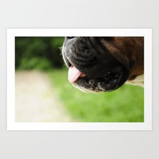 Dog Mouth Art Print