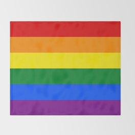 LGBT Pride Flag (LGBTQ Pride, Gay Pride) Throw Blanket