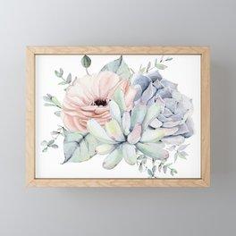 Pretty Succulents by Nature Magick Framed Mini Art Print