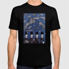 Four Men Waiting 2X-LARGE Black Mens Fitted Tee