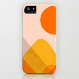 Abstraction_Mountains_02 iPhone Case