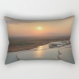 The white pools of Pamukkale, Turkey Rectangular Pillow