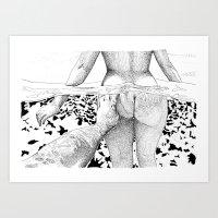 Art Prints featuring The Swim by Suzie-Q
