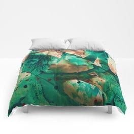 Smaragd shower - nude in bathroom Comforters