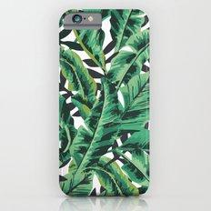 Tropical Glam Banana Leaf Print Slim Case iPhone 6