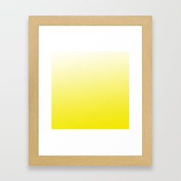 Simply sun yellow color gradient - Mix and Match with Simplicity of Life Framed Art Print