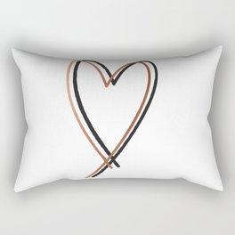 Twin Heart Rectangular Pillow