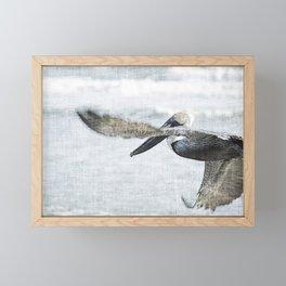 Flying Florida Pelican Framed Mini Art Print